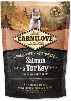 Carnilove Dog Salmon & Turkey for Large Breed Puppies NEW 1,5kg