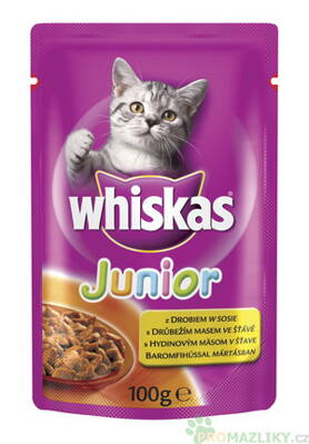 Whiskas Junior kapsička kuřecí 100g